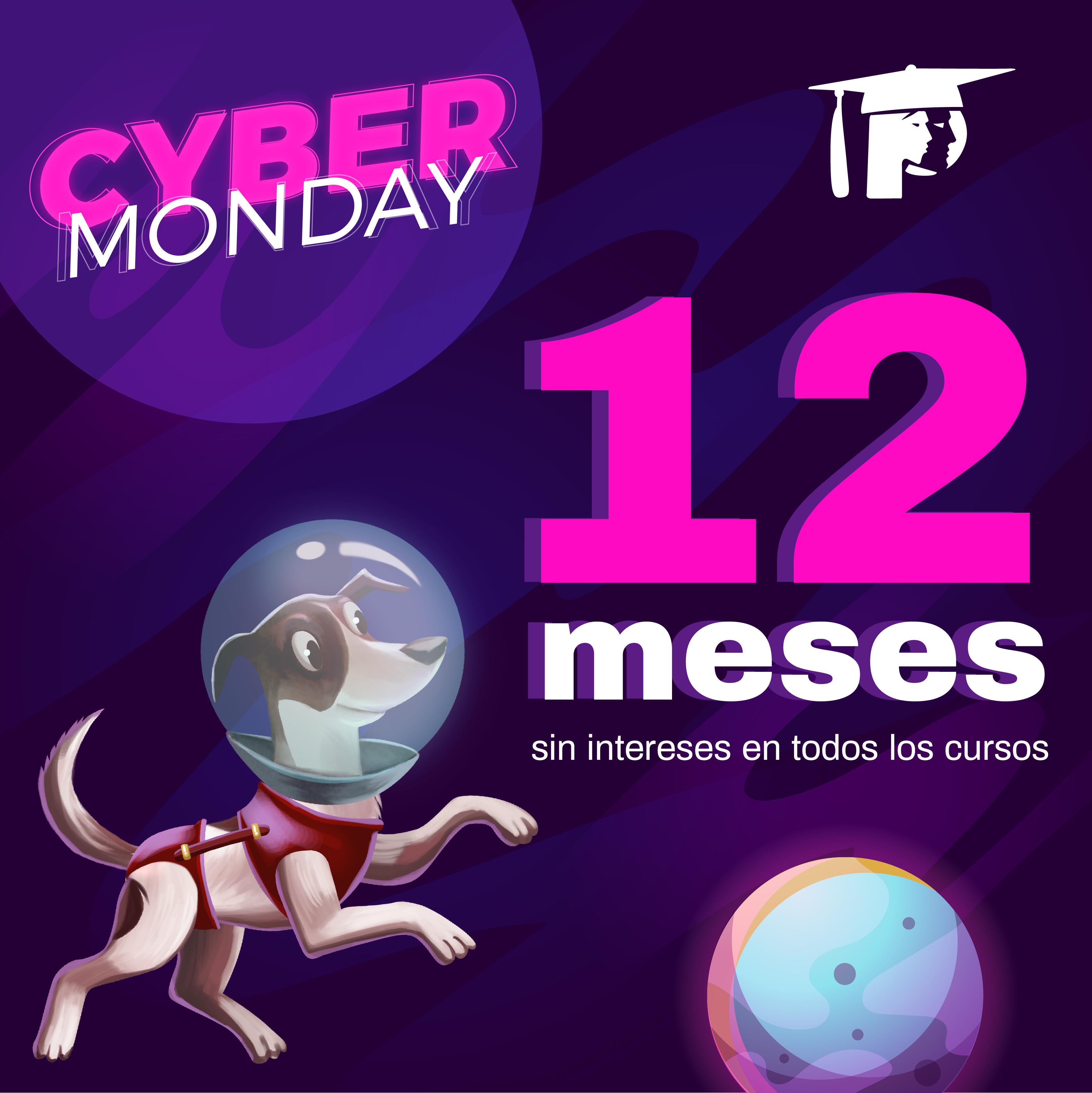 Cyber Monday 12 MSI en todos nuestros cursos